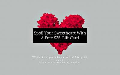 Valentine's Salon Gift Card Offer 2018