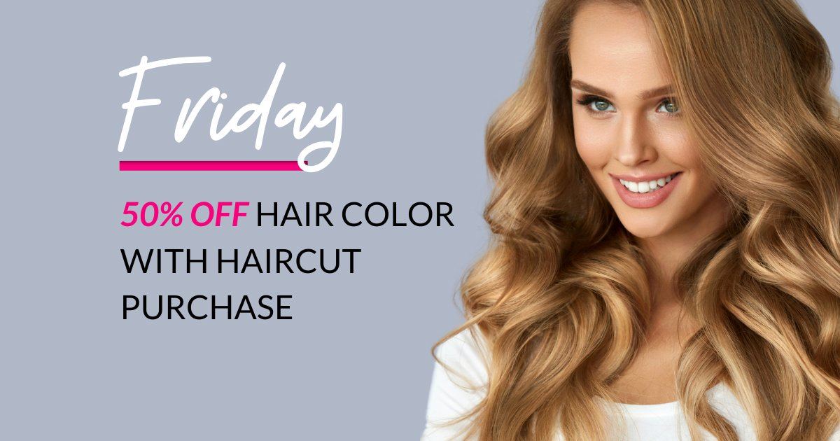 Friday half price hair color
