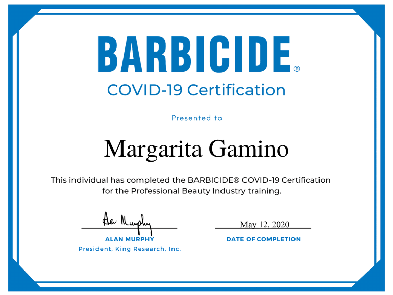 Mago G Barbicide® Covid-19 Certificate