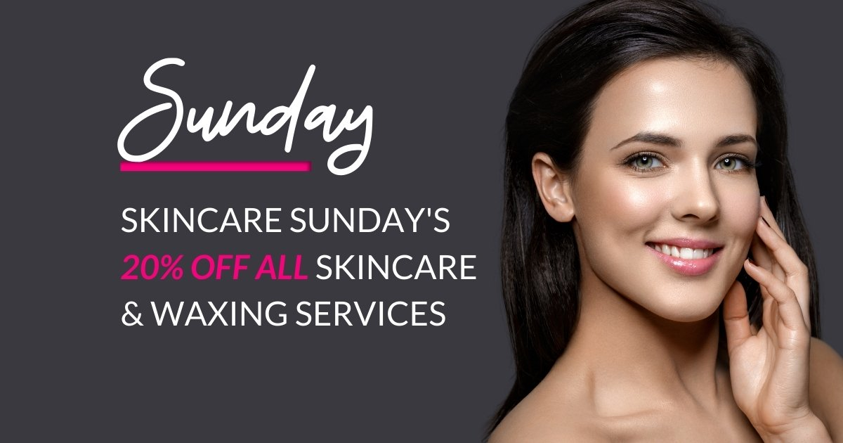 sunday skincare promo offer okc